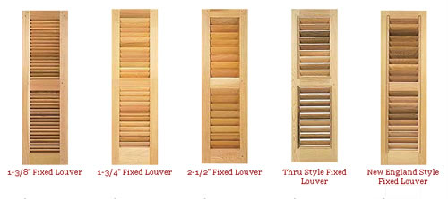 Louvered Style. Another Style Available In Wood Shutters ... Part 47